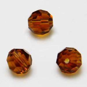 Beads, Selenial Crystal, Crystal, Brown , Faceted Rounds, Diameter 8mm, 10 Beads, [ZZC118]